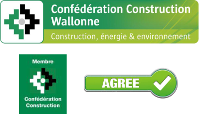 membre agree Confédération Construction Wallonne