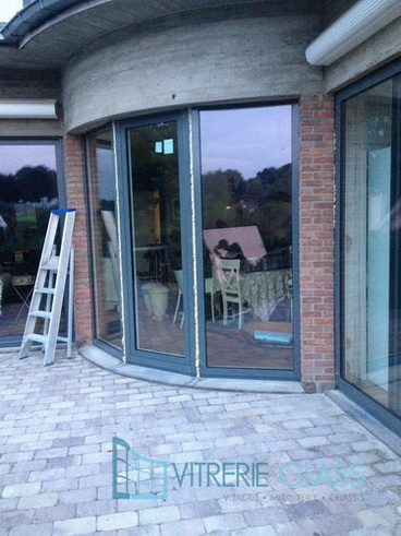 Chantier a Uccle Bruxelles Chassis Alluminium