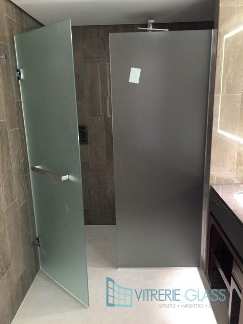 Porte douche en verre tremp a hotel kraainem bruxelles for Porte verre de bar